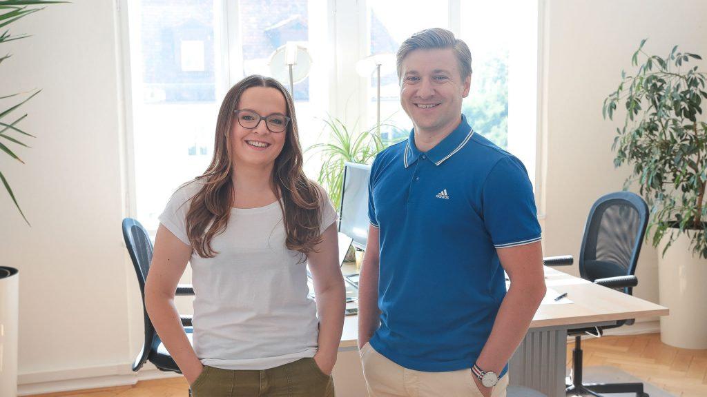 Alesja Lisa Freund und Petru Leuthold, die Köpfe hinter INFLZR.de