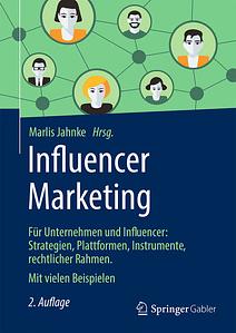 Buchcover Influencer Marketing von Marlis Jahnke