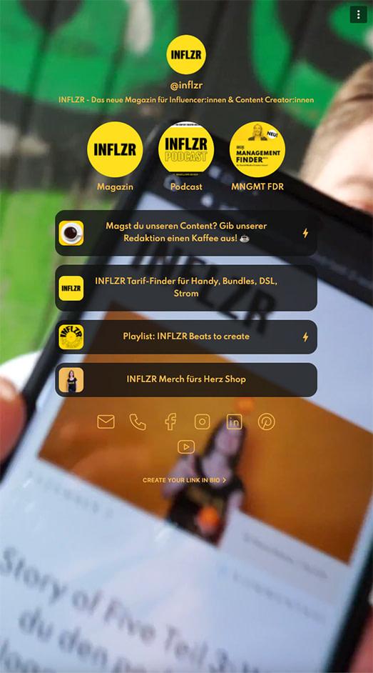 Screenshot Koji INFLZR Profil