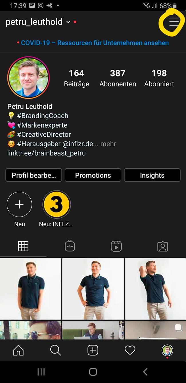 INFLZR Instagram Sticker aktivieren Schritt 1