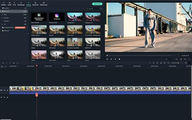 Screenshot Wondershare Filmora X