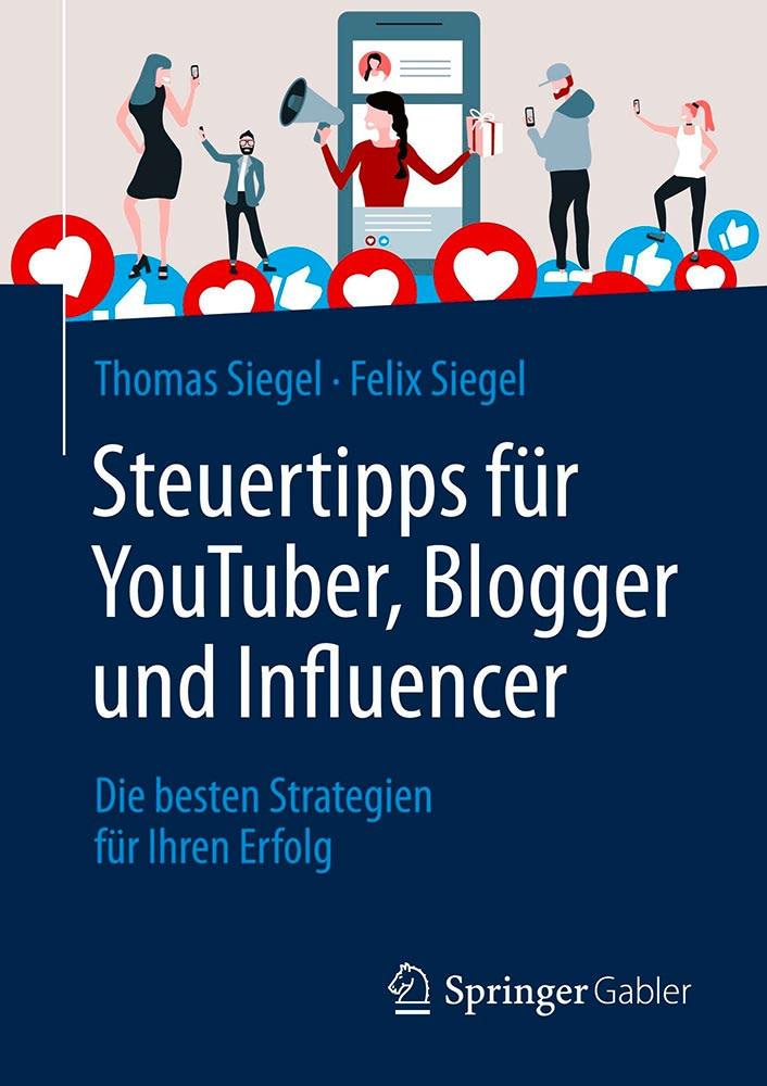 Cover Buch Steuertipps für YouTuber, Blogger und Influencer