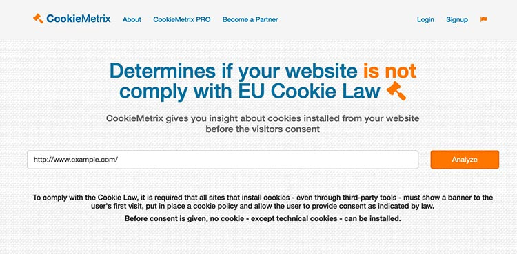 Cookiemetrix Screenshot
