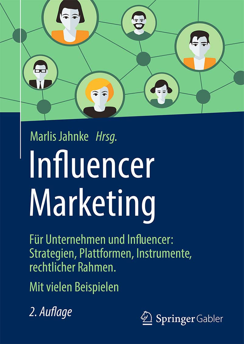 Buchcover Influencer Marketing von Marlis Jahnke